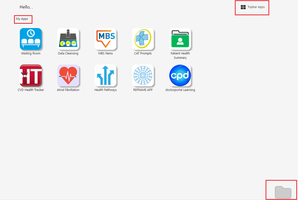 Topbar MyApps - USER GUIDES TOPBAR - PenCS Help